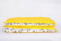 Постельное белье, Колыбельная, желтый горошек