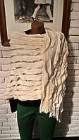 Пончо женское вязаное
