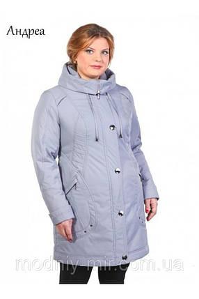 Красивая женская демисезонная куртка больших размеров 48-64, фото 2