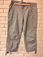 Женские легкие брюки, серого цвета, укороченные,  MarCollectione