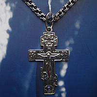Серебряный крестик с распятием, 3,2 грамма
