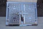 Дверца  для духовки фасадная алюминий 440х320 мм