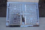Дверца  для духовки фасадная алюминий