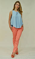 Стильная летняя блузка солнцеклеш 5043 MEES Турция, фото 1