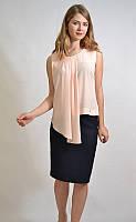 Летняя офисная блузка, цвет пудра 7582 MEES Турция
