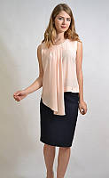 Летняя офисная блузка, цвет пудра 7582 MEES Турция, фото 1