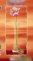 """Схема для вышивки бисером на подрамнике (холст) """"Тюльпан с ракушками"""""""
