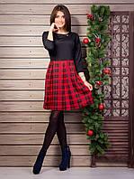 Очень красивое женское офисное платье с пышной юбкой