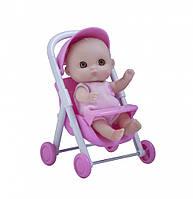 Пупс-малыш с коляской, 13 см