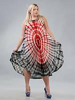Сарафан-разлетайка на кокетке красно-черный, на 50-56 размеры