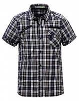 Рубашка в клеточку для подростка р. 134-164 (арт. 1537 т.син)