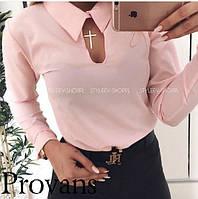 Женская блузка с воротничком Батал Цвета 41 ОН, фото 1
