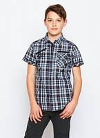 Рубашка в клеточку для подростка р. 134-164 (арт. 1537 гол.)