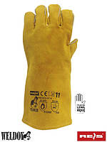 Кожаные перчатки для сварки (краги) REIS (RAW-POL) Польша WELDOGER-L Y