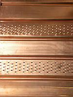 Соффит медный перфорированый  0,55 мм (Чехия)