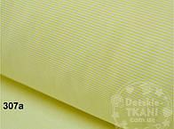 """Лоскут ткани №307а с тонкой полосочкой """"Макароны"""" жёлтого цвета"""