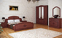 Спальный гарнитур комплект шкаф 4Д, прикроватные тумбы, комод, зеркало, кровать2С Тереза VIP 4Д