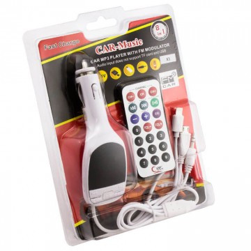FM модулятор A-3 с USB SD AUX Micro USB iPhone пультом