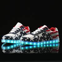 Светящиеся кроссовки лед LED (кросовки со светящейся LED подошвой)