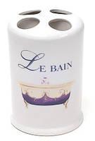 Подставка LE BAIN Ø8.7х13.4см для зубных щеток, фарфор
