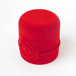 Футляр с розой красный 53939 размер 45*45 мм