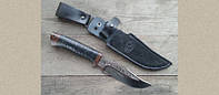 Охотничий нож КЛЫЧОК, легкий с прочным клинком, кожаный обух, бренд АиР Златоуст, фото 1