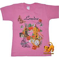 """Трикотажная детская футболка """"London Fashion"""" , (трикотаж тонкий , дешевый)  , на 9-11 лет"""