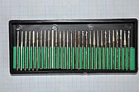 Набор алмазных боров (фрез, шарошек) для гравера. 30 шт