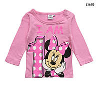 "Кофта Minnie Mouse ""Мне 1 год"" для девочки. 1 год"