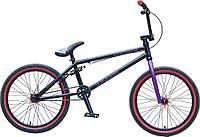 """Велосипед BMX WINNER EXPERT 20"""", черно-фиолетовый"""