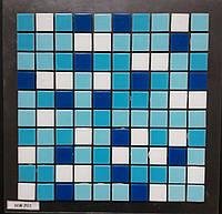 Мозаика для бассейна (микс) бело-голубая  WA 201