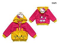 Теплая кофта Hello Kitty для девочки. 1 год