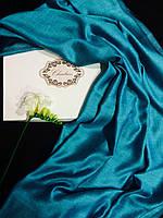 Шарф Chadrin из шерсти/шелка бирюзового цвета