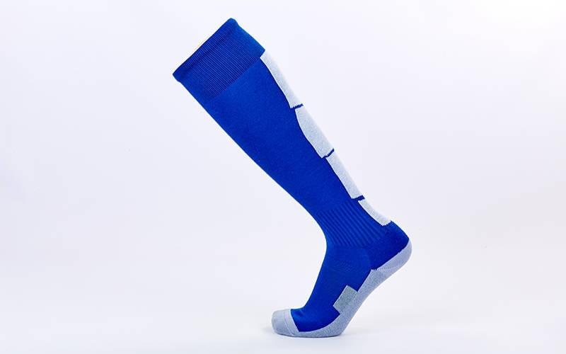 Футбольні гетри дорослі сині з білою смугою LINE CTM003-1-BL