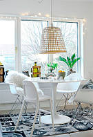 Стол Тюльпан круглый белый, копия дизайнерского стола Tulip от известного дизайнера мебели Ээро Сааринена