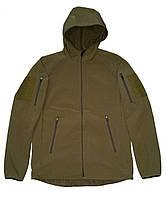 Куртка с капюшоном из материала Софтшелл (Softshell 5000H) цвет койот