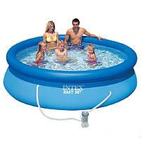 Надувной бассейн Intex 28122 (56922). Семейный Easy Set 305 х 76 см