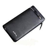 Мужской стильный кожаный портмоне кошелек Baellerry Italia! Черный