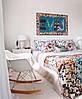 Кресло качалка Тауэр R голубое пластиковое на металлических ножках, SDMPC018BLUR, фото 3