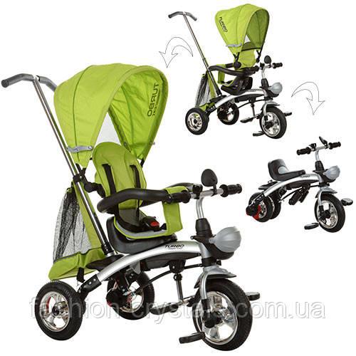Детский трехколесный велосипед трансформер 3 в 1 Turbo Trike air