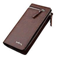 Мужской стильный кожаный портмоне кошелек Baellerry Italia! Коричневый
