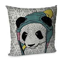Подушка «Панда», 45х45, бархат