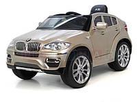 Детский электромобиль BMW X6 (бежевый)