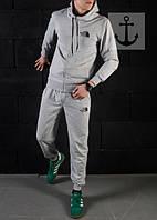 Мужской спортивный костюм ТНФ весна серый