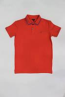 Мужская футболка поло  красное  Calvin Klein
