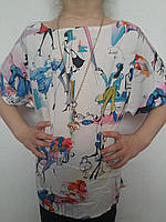 Блуза штапельная для девочки р.128-146 Jak Pani, Украина