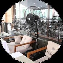 Вентилятор - увлажнитель напольный ENSA. Мобильная система охлаждения воздуха для открытых мест отдыха, фото 2