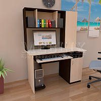 Стол для компьютера с надстройкой СКМ - 3. Компьютерные столы с полками в Украине.