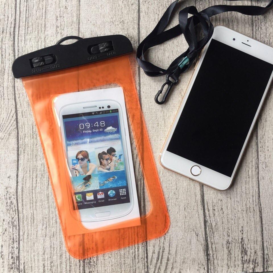 Водонепроницаемый оранжевый чехол для iPhone 7 Plus