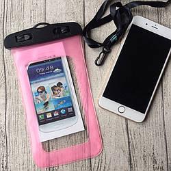 Водонепроницаемый розовый чехол для iPhone 7 Plus